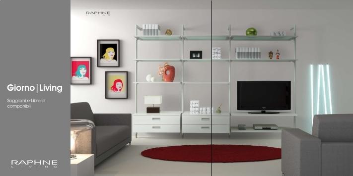 Librerie componibili e porta tv raphne living - Porta tv originali ...